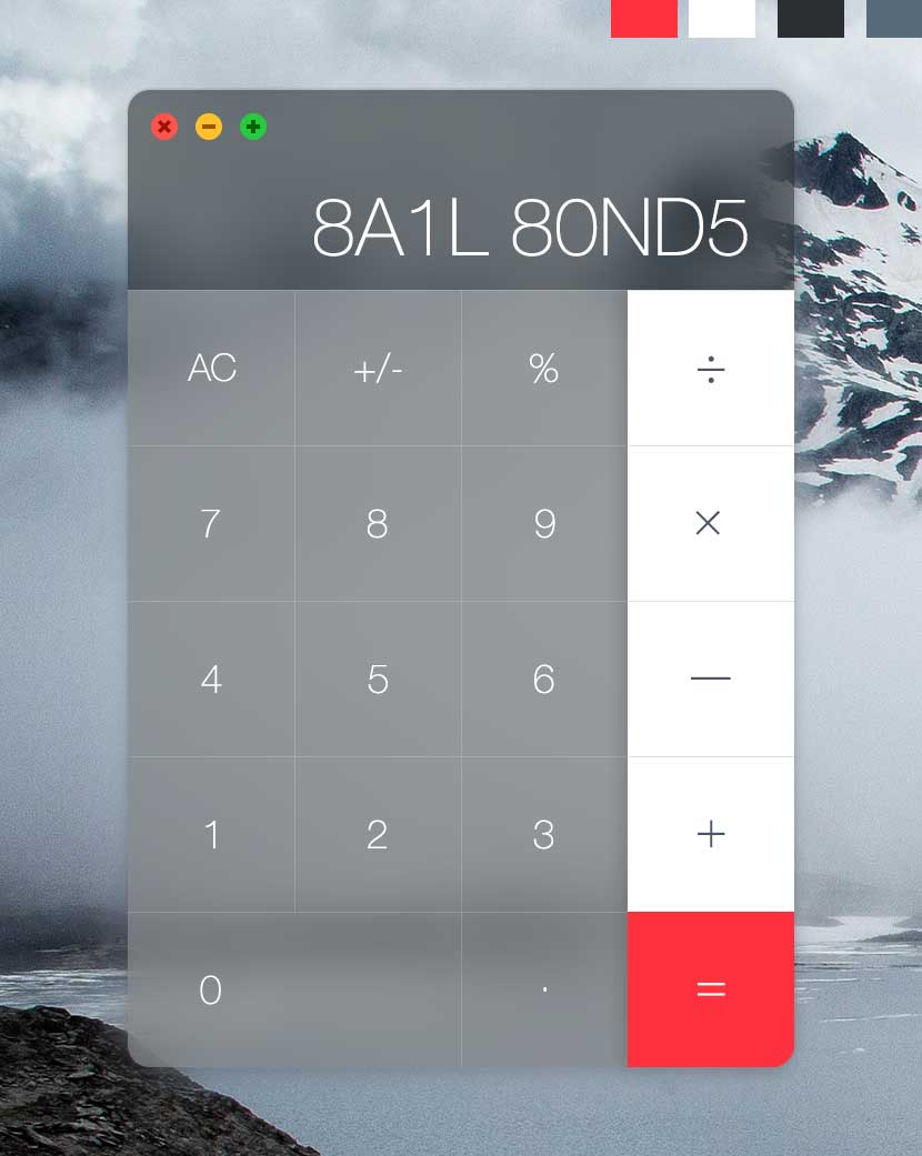 Bail bond calculator showing the phrase written in numbers.